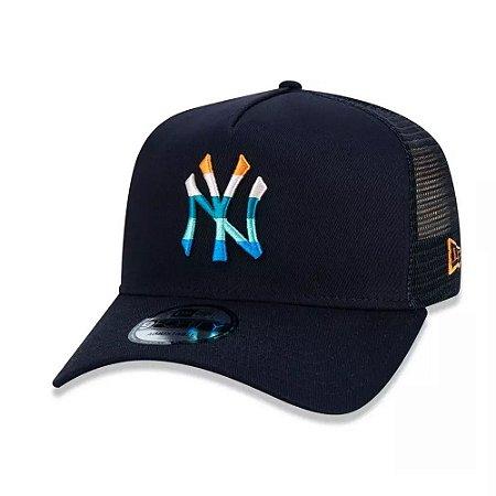Boné New Era 9Forty A-Frame New York Yankees Marinho