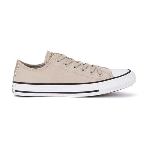 Tênis Converse CT17300001 Chuck Taylor All Star Ox Bege Claro/Ouro Claro