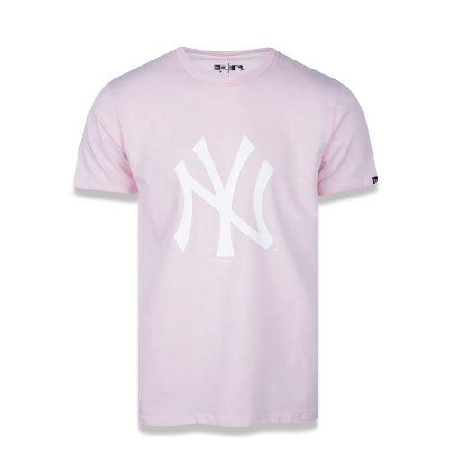 Camiseta New Era MLB New York Yankees Logo Rosa