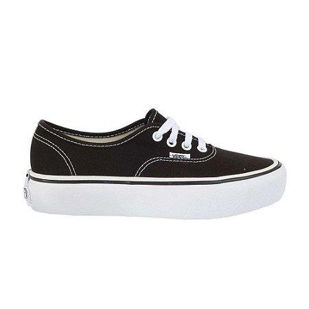 Tênis Vans Authentic Platform Black/White