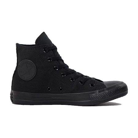 Tênis Converse CT04470002 Chuck Taylor All Star Monochrome Hi All Black