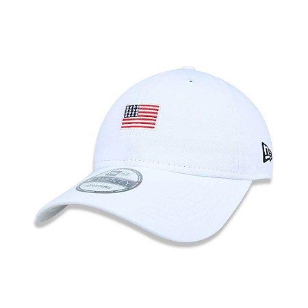 Boné New Era 9Twenty Bandeira EUA Branco