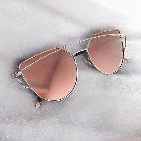 cd489604b22e6 Óculos Dior espelhado rosa inspired - M Importados Loja