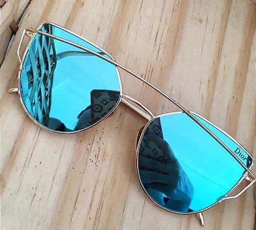 3cfb5f5c35473 Óculos Dior inspired azul - M Importados Loja