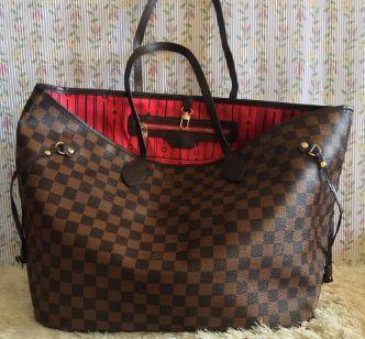 25f426572 Bolsa Neverfull Ebene Louis Vuitton em couro ecológico - M ...
