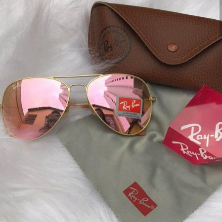 Óculos Rayban aviador rose - M Importados Loja e79d9c86d3