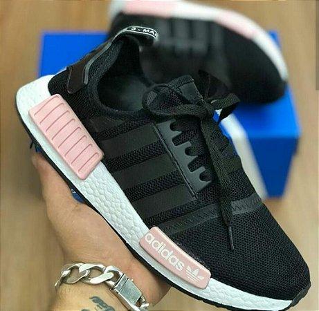 012360861 Tênis Adidas nmd preto com rosa - M Importados Loja