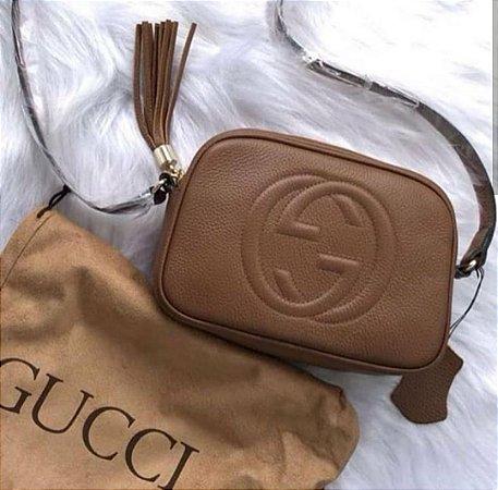 83d165922 Bolsa Gucci Soho marrom em couro legitimo premium - M Importados Loja