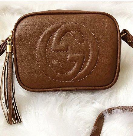 Bolsa Gucci couro ecológico marrom - M Importados Loja 772df13ca03