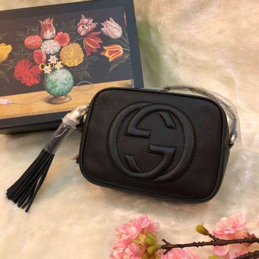 db385b7b6 Bolsa Gucci Soho Linha Italiana cor preto