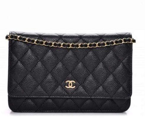 5da63fd33 Bolsa Chanel Woc Preta em Couro Caviar Linha Italiana - 7A - M ...