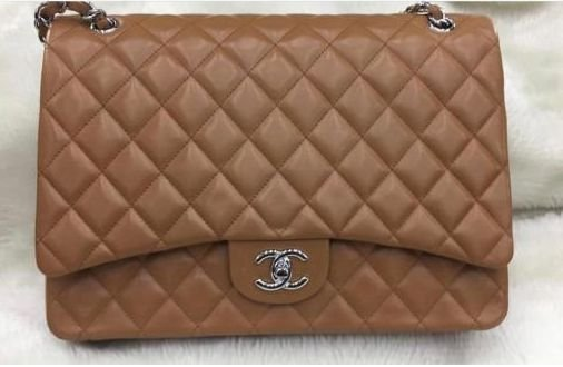 ffe600b99 Bolsa Chanel Maxi Jumbo caramelo linha italiana - M Importados Loja
