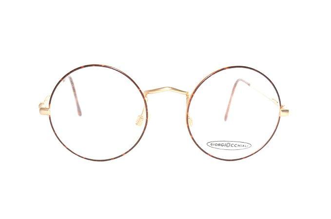 faecd0f84987b Óculos Redondo Pequeno - Estilo John Lennon Marca  Giorgio Occhiali - Oculos  Raro