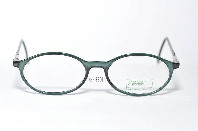 Óculos Infantil - Fibra de Carbono - Marca: Benneton ref: 3801 - Verde - Atacado de Óculos
