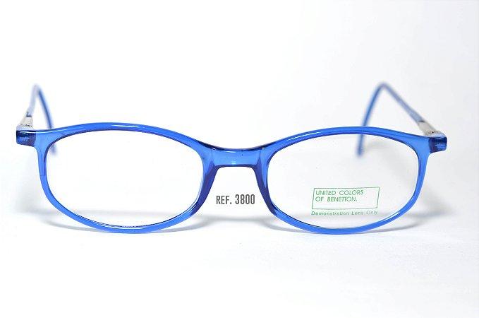 Óculos Infantil - Fibra de Carbono - Marca: Benneton ref: 3800 - Azul - Atacado de Óculos