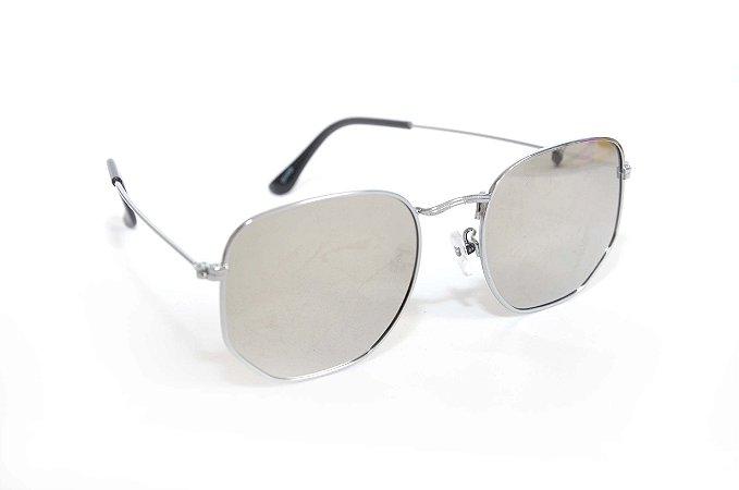Oculos de Sol Sextavado espelhado - Oculos Barato para revenda - atacado de oculos de sol