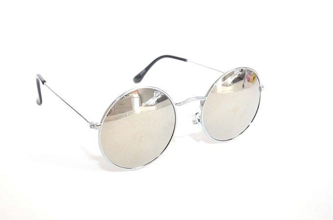 Oculos de Sol Redondo estilo John Lennon espelhado - Oculos Barato para revenda - atacado de oculos de sol