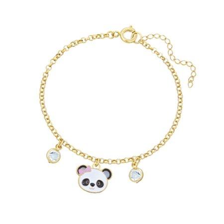 Pulseira Infantil Panda Folheada a Ouro