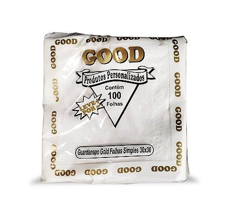 Guardanapo Luxo 30x30 Good Ouro folha simples - 100 unidades