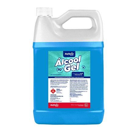 Reflexo Álcool Gel 70% com Fragrância Soft e Hidratante 5 litros