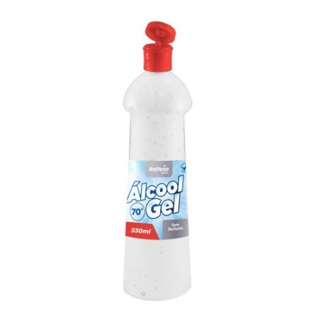 Álcool Gel 70% Antisséptico Fliptop SEM PERFUME de 550ml