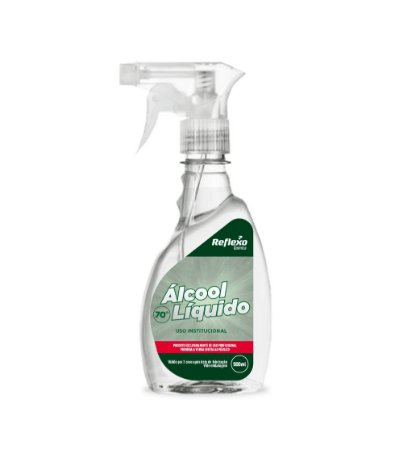 ÁLCOOL LIQUIDO ANTISSÉPTICO 70% - Reflexo SPRAY - 500 ml