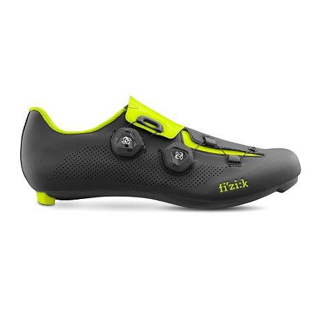 Sapatilha Para Ciclismo Fizik R3 ARIA Preto/Verde Fluor  SPEED - Ciclismo de Estrada