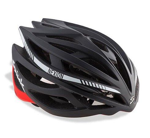 Capacete Para Ciclismo Spiuk Nexion Preto Com Branco - Mountain Bike ou Speed