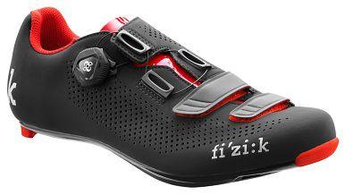 Sapatilha Para Ciclismo Fizik R4 Preto/Vermelho SPEED - Ciclismo de Estrada