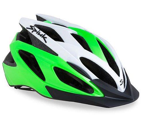 Capacete Para Ciclismo Spiuk Tamera Verde e Branco - Mountain Bike Ou Speed