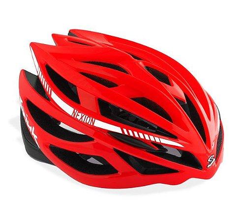 Capacete Para Ciclismo Spiuk Nexion Vermelho Com Preto - Mountain Bike ou Speed