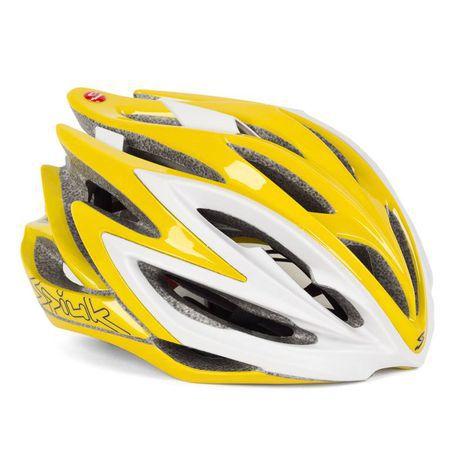 Capacete Para Ciclismo Spiuk Dharma Banco e Amarelo - Mountain Bike ou Speed