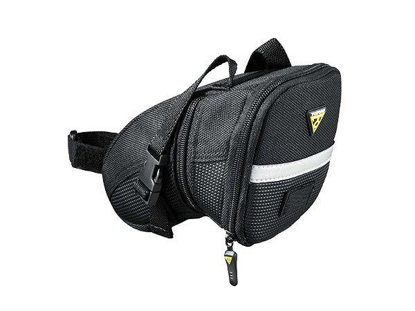 Bolsa De Selim Topeak Aero Wedge Pack Com Tiras M - Bolsa bikepacking 0,41 Litros TC2261B