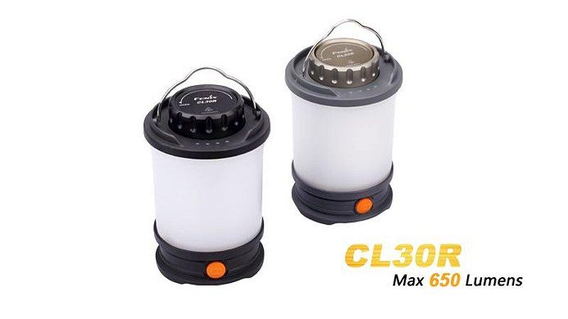 Lanterna FenixCL30R BLACK - 650 Lumens
