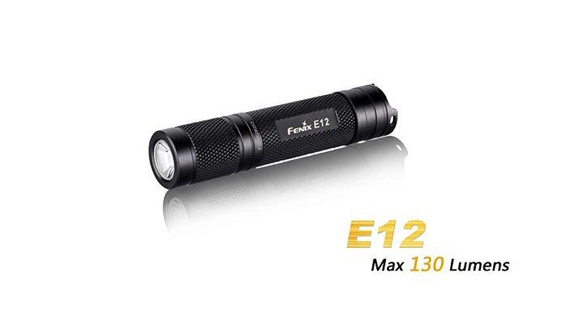 Lanterna FenixE12 - Autonomia De Até 40h - 130 Lumens