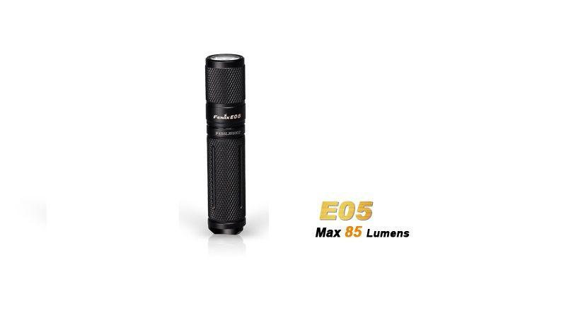 Lanterna Fenix E05 - Black - 85 Lumens