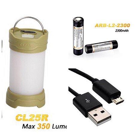 Lanterna Fenix CL25R Olive Green - Para Camping- 350 Lumens