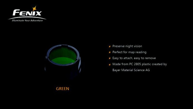 Filtro para Lanterna Fenix - Modelo AOF-S+ Verde