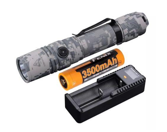 Lanterna Fenix Pd35 V2.0 Camo + Carregador Are-D1 + Bateria 3500mah