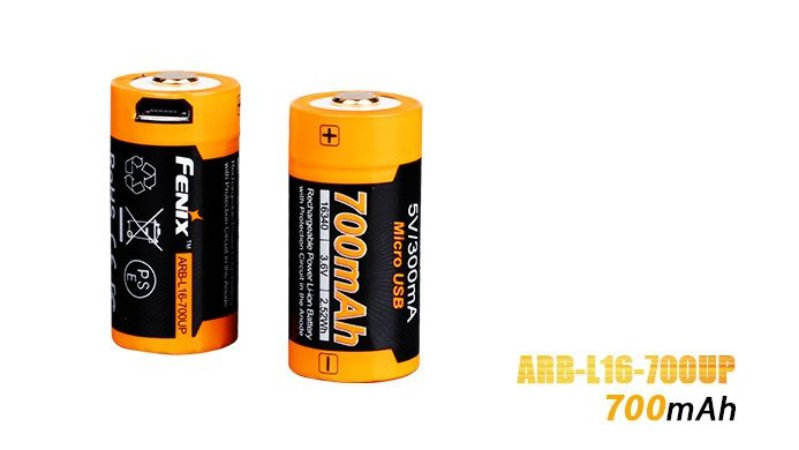 Bateria Fenix 16340/CR123A 700mAh UP