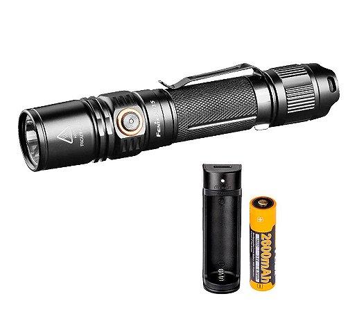 Kit Lanterna Pd35 V2.0 + Carregador X1 + Bateria 2600mah