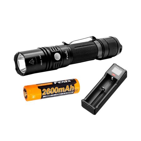Kit Lanterna PD35Tac + Bateria 2600mAh + Carregador ARE-D1