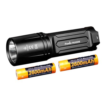 Kit Lanterna TK35 3200 Lumens + 2x Bateria 2600mAh USB