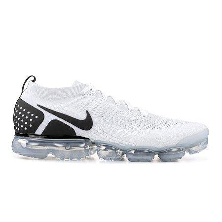 Tênis Nike Air Vapormax Flyknit 2 Branco e Preto