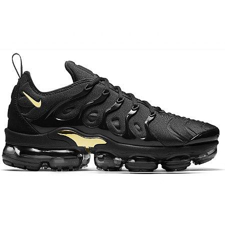 Tênis Nike Air VaporMax Plus Preto e Dourado