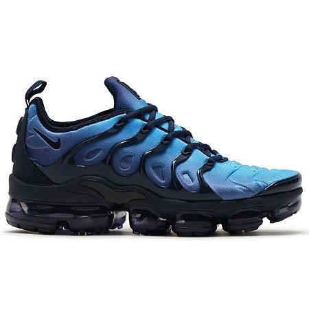 Tênis Nike Air VaporMax Plus Preto e Azul