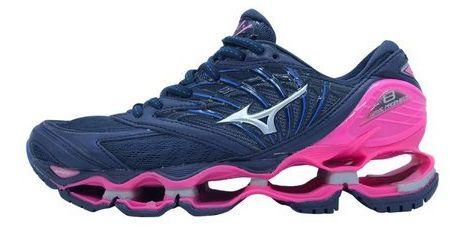7d74381732df7 Mizuno Wave Prophecy 8 Azul e Rosa   OficialShoes - OficialShoes