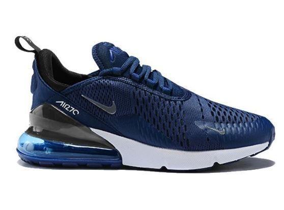 4fc36345ee104 Tênis Nike Air Max 270 Azul e Branco