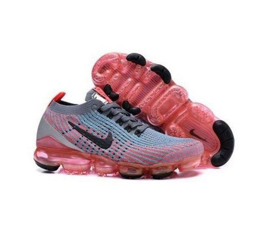 Tênis Nike Air Vapormax Flyknit 3 Rosa e Azul