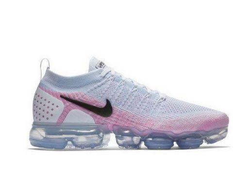 Tênis Nike Air Vapormax Flyknit 2 Cinza Claro e Rosa